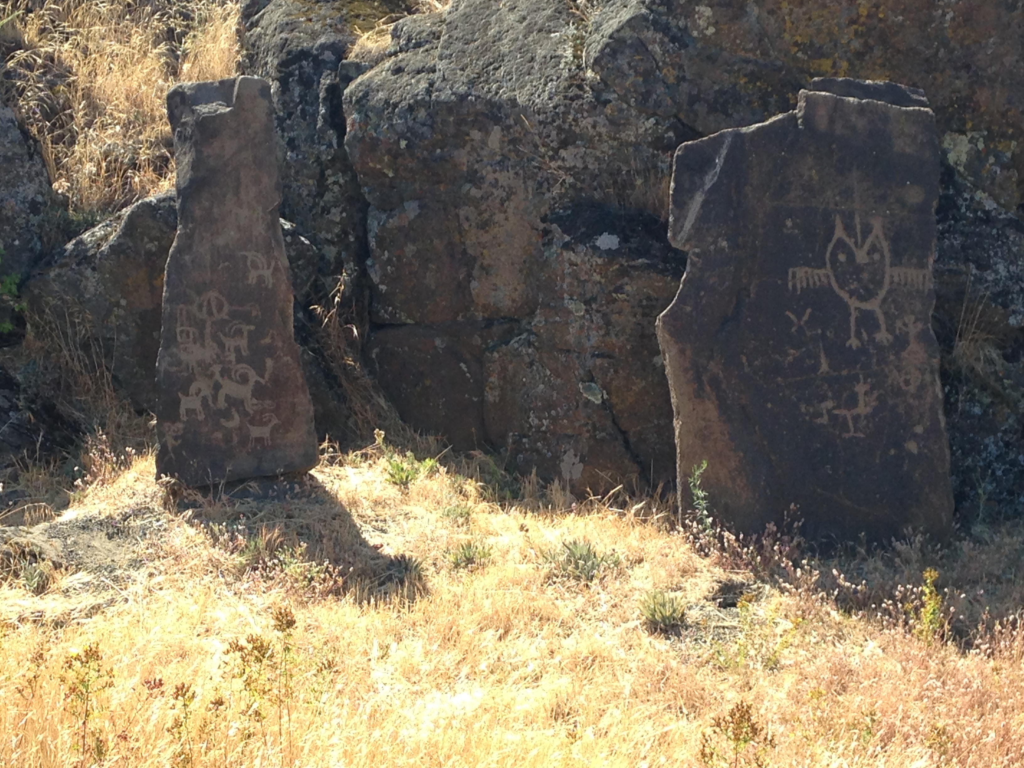Petroglyphs near Horsethief Lake, on the Columbia River, Southern border of Washington St. and Oregon